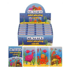 24 x Packs Of Sealife Themed Mini Playing Cards - Wholesale Bulk Buy Party Bag Fillers